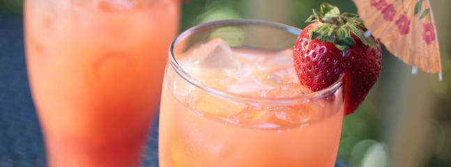 Alcoholic beverages (including the Inn's signature Sunsets) are available for purchase at the Inn.