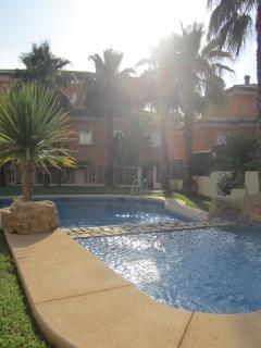 View of the rear of the house from the pool