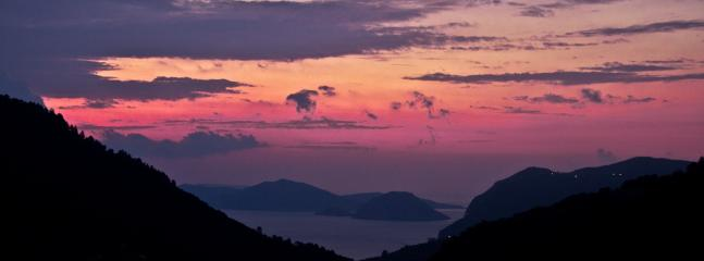 Heavenly sunrise captured from second floor - Skopelos Country Villa Delfi