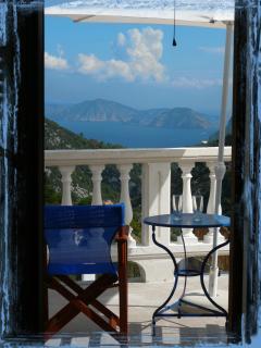Second floor veranda accessed from bedrooms - Skopelos Country Villa Delfi