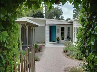 Ivy arch welcomes you to this Pet Friendly Carmel cottage.