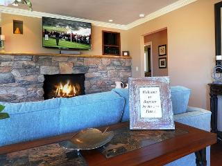 Great Room has Comfortable Seating with a Gas Fireplace and 50' HDTV.