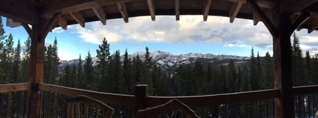 View of Spanish Peaks from the deck