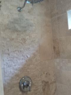 Luxurious Spa inspired shower w High Volume Shower Head