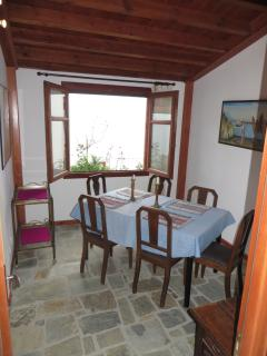Separate Dining Room with Sea View- Expandable table can seat 8