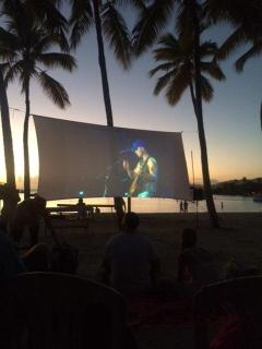 On Mondays, Water Island has Outdoor movies. A very unique experience!