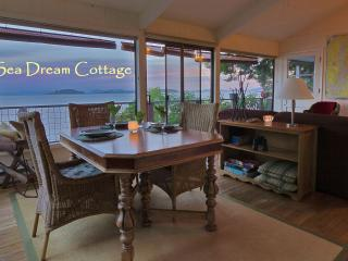 Sea Dream - wall of windows gives you waterviews from every corner of the cottage