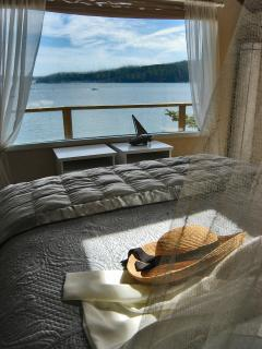 Mariner's Dream - King all foam (gel top) bed. Wake to a view of islands reflected in the water.