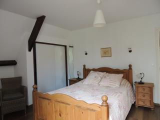 Bedroom with ensuite, king size bed and tv with sky