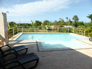 Hilltop Serenity model villa 2-bdrm/2-bath. The 11,000 gal pool has shallow sunbed ledge for lounging or ample pool deck. BBQ, Internet. Safe and Television on both bedrooms.(804), Cabarete