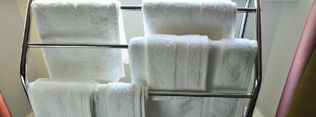 Lovely white fluffy towels