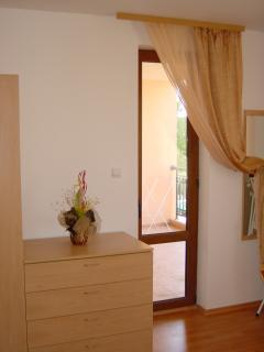 Main bedroom door to the balcony