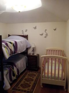 bedroom 2 with a cot