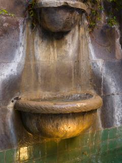 Cantera stone fountain bowls
