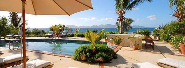 AVAILABLE CHRISTMAS & NEW YEARS: Anguilla Villa 22 Magnificent Freshwater Pool And Whirlpool With Waterfall Splash-over Rest Literally On The Rugged Coastline Of Anguilla., Anguila