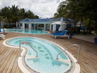 True Beachfront Estate for Families & Large Groups, 2 Pools & Jacuzzi, Close to All the Action, Simpson Bay