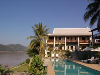 Villa by pool on the Mekong river, Luang Prabang