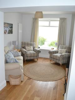 Enjoy the stunning views of Westward Ho! beach from Fairway's living room