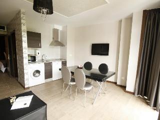 Salón cocina de uno de los apartamentos de 2 baños. Buenas vistas
