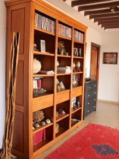 Full library with books, dvd, music CD