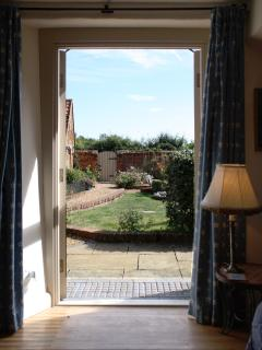 Looking out onto the garden from the sitting room