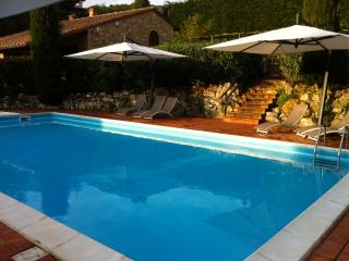 Tuscan hillside farmhouse with private pool, terrace and garden, great for family holidays, San Gimignano
