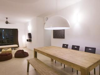Open plan living and dining room