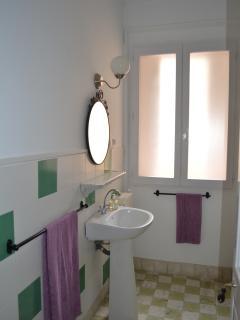 Uno de nuestros lavabos, totalmente equipado, y con ducha (ap. Côte Vermeille).