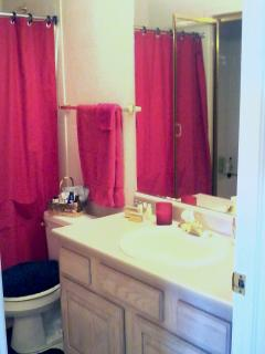 Bathroom with walk-in shower and 2nd shower/tub combo