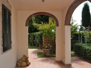 Tuscan hillside farmhouse with private pool, terrace and garden, great for family holidays