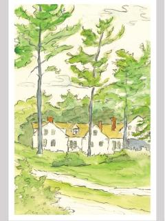 Watercolor Of Caretakers Cottage