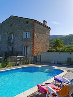 Stunning 200 year old farmhouse with large pool, garden, parking and great views
