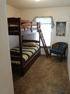 Bunk beds in the third bedroom suits kids of all ages!