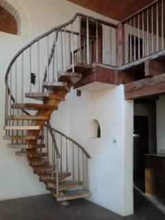 Stair way to heaven (the 750 sq. ft. open loft) w/amazing views of the mountains and valley.