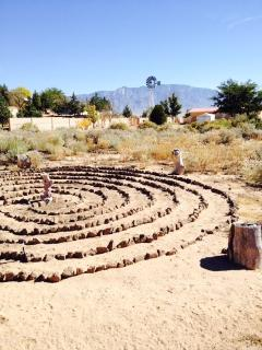 Labyrinth with a view for reflective meditation.