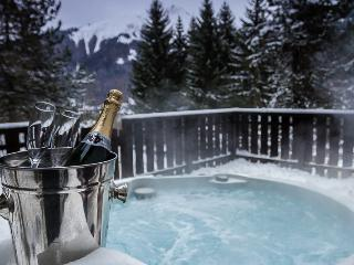 Lovely Morzine Ski App, 2 bdrm, sleeps 6, hot tub