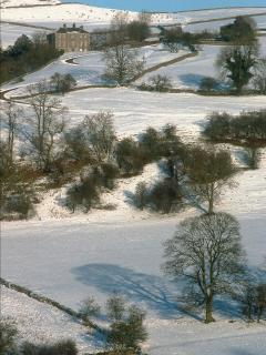 Castern Hall- a wintery scene near Broadhurst
