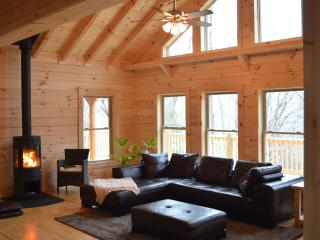 The Chalet at Winghaven,  sunny, new log home, Fletcher
