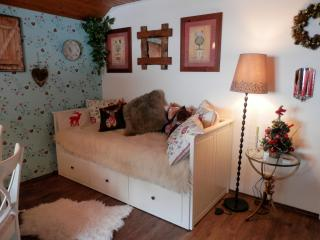 Apartment 1 has a double guest bed in the living room, so can comfortably accommodate up to 4 person