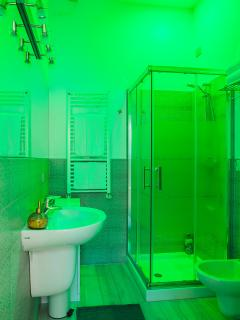 shower with chromotherapy