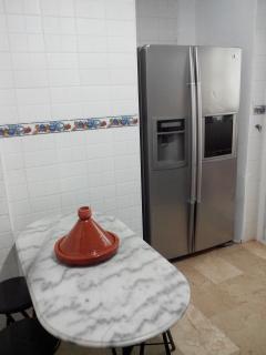 cuisine avec frigo américain