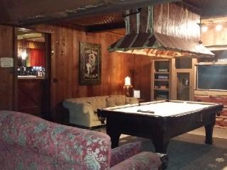 POOL TABLE,GAME ROOM-COMFY OVERSIZED COUCHES and Custom Dining Tables fold down from the walls