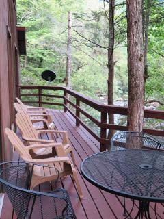 Deck overlooking the Little Pigeon River