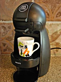 Dolce Gusto coffee maker in our kitchen