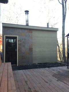 Wooden burn Sauna