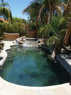 Saltwater pebble tech pool & Spa