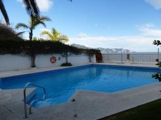 Nice swimming pool, rarely busy with nice grassy area around.