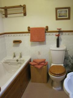 Family bathroom with bath and a stand alone shower