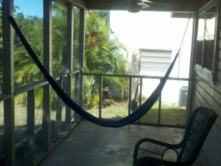 laze on porch in hammock