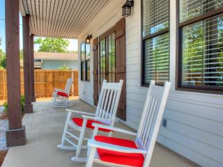 Front porch rocking chairs to take in the evening sun from the West